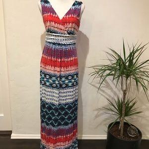 ❤️Ann Taylor Boho print Maxi dress Soft knit sz S
